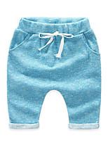 Pantalones Boy-Casual/Diario-Un Color-Algodón-Verano / Otoño-Azul / Rojo