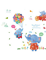 Creative Stickers Balloon Elephant Decals Nursery Children's Room Wall Stickers Ainimals Wall Stickers for Kids