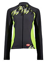 Sportif Vélo/Cyclisme Hauts/Tops Femme Manches longues Respirable / Zip frontal / Vestimentaire / Tissu Ultra LégerTérylène / Coolmax /
