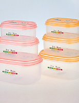 FDA Approve Clear Plastic Storage Container with Lid Set of 3 pcs