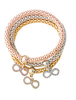 Charm Bracelets 1set,Adorable Bowknot Golden / Silver / Rose Gold Alloy Jewelry Gifts