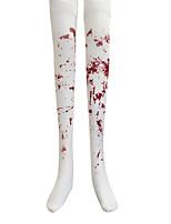Costumes Ghost / Zombie / Vampires Halloween / Christmas / Carnival Red / White Vintage Socks