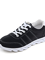 Men's Sneakers Spring / Fall Comfort PU Casual Flat Heel Black / Blue / Gray Walking