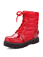 Women's Boots Spring / Fall / Winter Platform / Fashion Boots Leatherette Outdoor / Casual Platform Lace-upBlack / Red