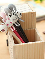 Creative Stationery Cute Little Animal Fine 0.38mm Gel Pen For Students(Random Color)