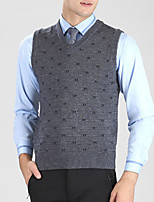 Herren Pullover-Druck Freizeit Baumwolle / Polyester Lang Grau