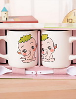 Cute Cartoon Take Teaspoons of Ceramic Cup