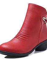 Для женщин-Дерматин-Не персонализируемая(Черный / Коричневый / Красный / Серый) -Модерн / Танцевальные сапоги