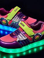 Girl's Sneakers Spring / Fall Comfort / Round Toe Fabric Outdoor Flat Heel Magic Tape / LED Purple Sneaker