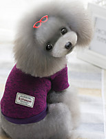 honden Truien Rood / Groen / Paars Winter Effen Houd Warm, Dog Clothes / Dog Clothing-Other