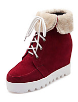 Women's Boots Winter Wedges /  Platform / Riding Boots / Fashion Boots / Bootie / Comfort / Round ToePatent Leather