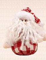 1pc Christmas Tree Decoration Red White Grid Santa Claus Pendant New Year Home Supplies