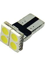 10st t10 5050 4 smd vita LED bil sida kil lampa markör glödlampa registreringsskylt lampor (12V)