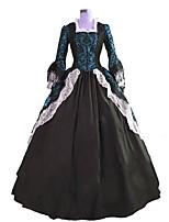 Steampunk®Georgian Marie Antoinette Colonial Brocade Period Dress Ball Gown Dark Masquerade Steampunk Costume