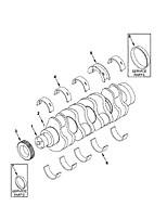 Камминс автоаксессуары двигателя 3929021 коленчатого вала Главный подшипник