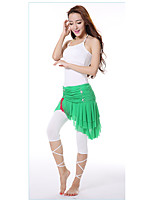 Belly Dance Outfits Women's Training Modal Pleated 3 Pieces Belly Dance