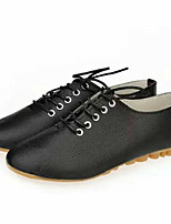 Da donna-Sneakers-Tempo libero / Casual-Comoda-Piatto-Finta pelle-Nero / Bianco