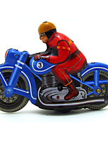 The Motorcycle Wind-up Toy Leisure Hobby Metal Blue For Kids