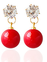 1pair/red/orange/pink/blue/white Stud Earrings