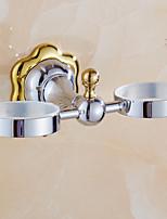 Soporte para Cepillo de Dientes / Gadget para Baño / Pulido en Espejo / Montura en Pared /7.9*3.7*5.9 inch /Latón /Contemporáneo /20CM
