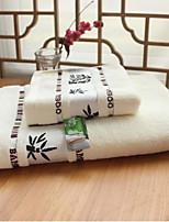 Set asciugamani da bagno- ConJacquard- DI100% fibra di bambù-70*140cm ; 34*74cm