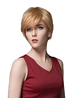 New Arrival Short Straight Full Bangs Capless Human Hair Wigs