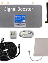 LCD Display 3G 2100MHz Mobile Phone Signal Booster with Whip and Panel Antenna Kit Grey