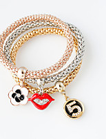 Bracelet/Charm Bracelets Alloy Others Fashionable Jewelry Gift Gold / Silver,1set