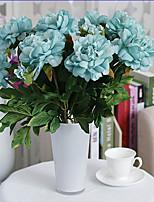 1pc 1 Une succursale Polyester / Plastique Pivoines Fleur de Table Fleurs artificielles 19.6inch/50CM