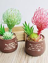 1pc 1 Une succursale Polyester / Plastique Plantes Fleur de Table Fleurs artificielles 5.1inch/13CM