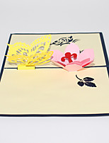 Paper Craft 3D Pop-up Greeting Card For Festival Birthday Party Radom Color