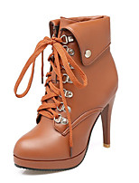 Women's Shoes Leatherette Spring / Fall / Winter Fashion Boots Boots Wedding / Party & Evening / Dress /