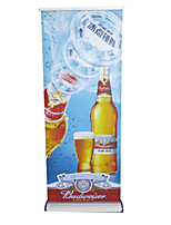 Shanghai Water Drop Wide Base Grade Aluminum Roll Up Display Advertising Poster Display Rack Wholesale