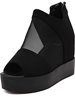 Women's Sandals Summer Sandals / Open Toe Tulle Casual Wedge Heel Others Black Others