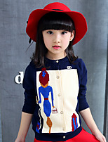 Pull & Cardigan / Costume & Blazer Fille de Mosaïque Décontracté / Quotidien Coton Automne Bleu / Rouge