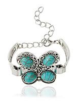 Chaînes & Bracelets 1pc,Bohemia style Forme d'Animal Argent / Vert Alliage / Zircon Bijoux Cadeaux