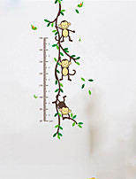 45*60CM  Ute Monkeys Playing On Trees Wall Stickers For Kids Rooms