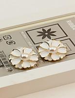 Earring Flower Stud Earrings Jewelry Women Fashion Daily / Casual Alloy 1 pair Gold