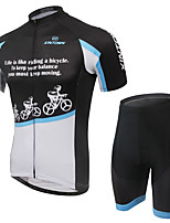 Men's Cycling Clothing Sets New Fashion Snow Cycle  Pattern Bicycle Sports Comfortable Short Cycling Jersey 1 Set