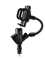Automotive Supplies Multifunctional Dual USB Car Cigarette Lighter Charger Phone Holder