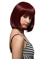 reflets rouges cheveux courts, perruques de mode.