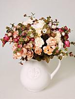 1 1 Филиал Полиэстер / Пластик Камелия Букеты на стол Искусственные Цветы 13.7inch/35cm
