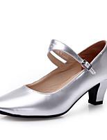 Women's Dance Shoes Heels Chunky Heel Gold/Silver/Black/Fuchsia