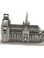 Puzzles 3D - Puzzle Bausteine DIY Spielzeug Berühmte Gebäude 1 Metall Silber Neuheit-Spielzeug