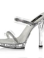 13 CM leisure Rhinestone sandals / Women's Heels Summer PVC Wedding / Party & Evening / Casual Stiletto Heel Sparkling