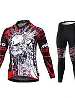Deportes Bicicleta/Ciclismo Traje de compresión / Medias/Mallas Largas / Maillot + Pantalones/Maillot+Mallas Largas Hombres Mangas cortas