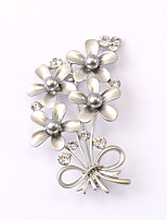 European and American fashion zircon Pearl Brooch Series 025