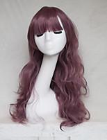 peluca cosplay del color taro larga cambio de color de la peluca pelo rizado puntos 26 pulgadas