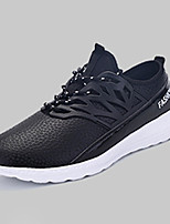 Men's Sneakers Spring / Fall Round Toe PU Athletic Flat Heel Others / Lace-up Black / Blue / Royal Blue Sneaker