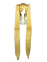 Cosplay Wigs Vocaloid Mikuo Golden Long / Straight Anime Cosplay Wigs 100 CM Heat Resistant Fiber Male / Female